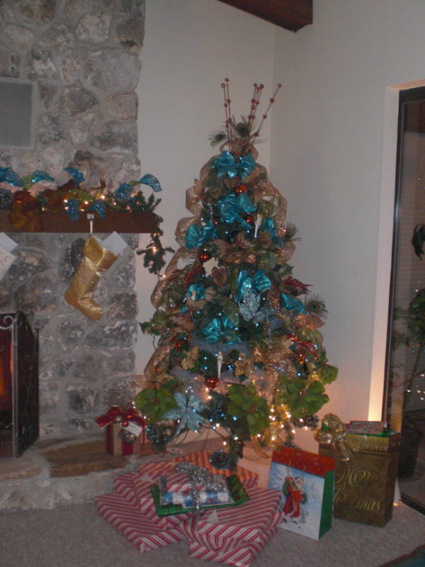 Copper and Aqua Marine 2010 Christmas Ttree