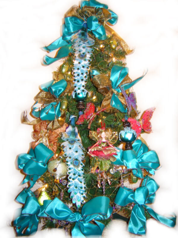 Mouse over to see Royal Peacock Christmas Wreaths