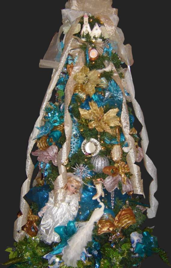 Blue Victorian Christmas Tree